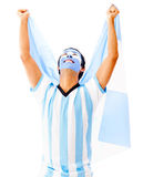 Argentinean man celebrating Stock Image