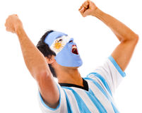 Argentinean man celebrating Stock Photos