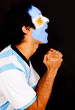Argentinean man shouting Stock Photography