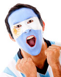 Argentinean man shouting Royalty Free Stock Photo
