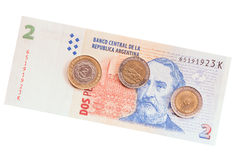 Argentinean money. Royalty Free Stock Images