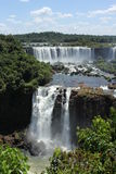 Argentinean side of the Iguassu Falls. Partial view from the Argentinean side of the Iguassu Falls in a sunny day of summer Stock Photos
