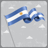 Argentinean wavy flag. Vector illustration. Argentinean flag wavy abstract background. Vector illustration royalty free illustration