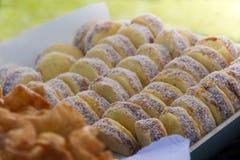 Argentinië alfajores van maïszetmeel met dulce DE leche royalty-vrije stock fotografie