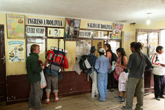 Argentinië-Boliviaanse grens stock foto's
