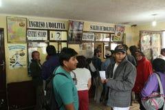 Argentinië-Boliviaanse grens Royalty-vrije Stock Afbeeldingen