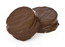 Argentinian alfajor. Covered with chocolate Royalty Free Stock Photo