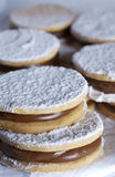 Argentinian Alfajores. Picture of Assorted Argentinian Alfajores on a table Royalty Free Stock Photo