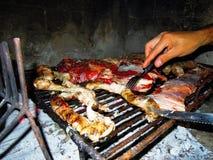 argentinian asado Arkivfoto