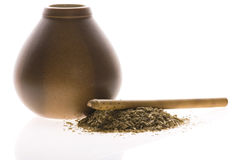 Argentinian calabase with yerba mate Stock Photo