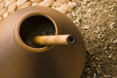 Argentinian calabase with yerba mate royalty free stock image