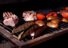 Argentinian cooking meat  barbecue Royalty Free Stock Photos