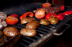 Argentinian cooking meat  barbecue Stock Photography