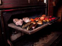 Argentinian cooking meat  barbecue Royalty Free Stock Photography