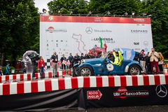 Argentinian driver Juan Tonconogy starts the 1000 Miglia he will win Royalty Free Stock Images