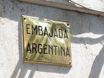 Argentinian embassy in Rome stock images