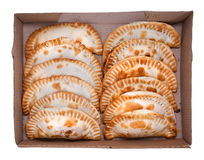 Argentinian empanada, meat pie. Argentinian empanada, meat pie on white background. Dozen Royalty Free Stock Image