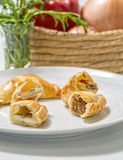 Argentinian empanadas. In white background Stock Images