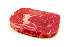 Argentinian entrecote. Raw argentinian entrecote on a white background Royalty Free Stock Image