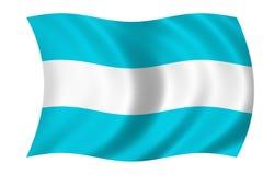 Argentinian flag. Eaving flag of argentina Vector Illustration
