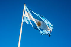 Argentinian flag in Buenos Aires, Argentina. Stock Photos