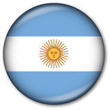 Argentinian Flag Button. Glassy Web Button with the Argentinian Flag Stock Photography