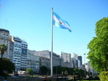 Argentinian flag flapping Royalty Free Stock Photography