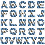 Argentinian flag font Stock Images