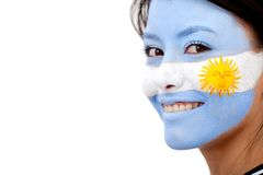 Argentinian flag portrait Royalty Free Stock Photography