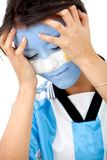 Argentinian flag portrait Royalty Free Stock Images