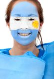 Argentinian flag portrait Royalty Free Stock Image