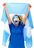 Argentinian flag portrait Royalty Free Stock Photo