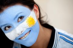 Argentinian flag portrait Royalty Free Stock Photos
