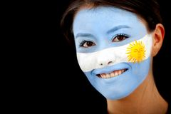 Argentinian flag portrait Stock Photo