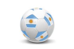 Argentinian flag soccer  ball Stock Photo
