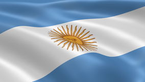 Argentinian flag in the wind Stock Photo