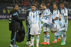 Argentinian football players Royalty Free Stock Photo