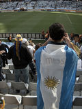 Argentinian football supporter Stock Photography
