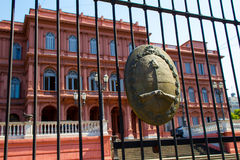 Argentinian Government House with the emblem in the forefront Stock Photos
