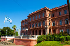 Argentinian Government House. The ¨Pink House¨, in Buenos Aires Royalty Free Stock Image