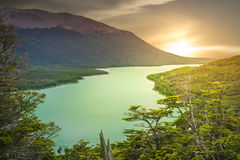 Argentinian green lake Royalty Free Stock Photography