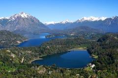 Argentinian Lake District. Stunning views of argentinian Lake District from viewpoint on top of Cerro Campanario Stock Image