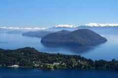 Argentinian Lake District. Stunning views of argentinian Lake District from viewpoint on top of Cerro Campanario Stock Photography