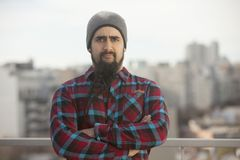 Argentinian man with beard in Buenos Aires Royalty Free Stock Photo