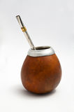 Argentinian mate. Isolated argentinian cup for drinking traditional tea (mate Royalty Free Stock Photos