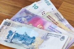 Argentinian money / pesos Stock Image