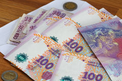 Argentinian money / pesos. View of the Argentinian money / pesos Stock Images