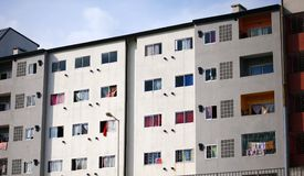 Argentinian renovated apartments in poor side of Buenos Aires City. During summer time in south america Stock Photo