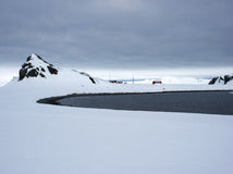 Argentinian research station on Halfmoon Island Antarctica Royalty Free Stock Photography