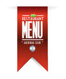 Argentinian restaurant texture banner Stock Photo
